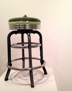 Green and Black Knot Stool